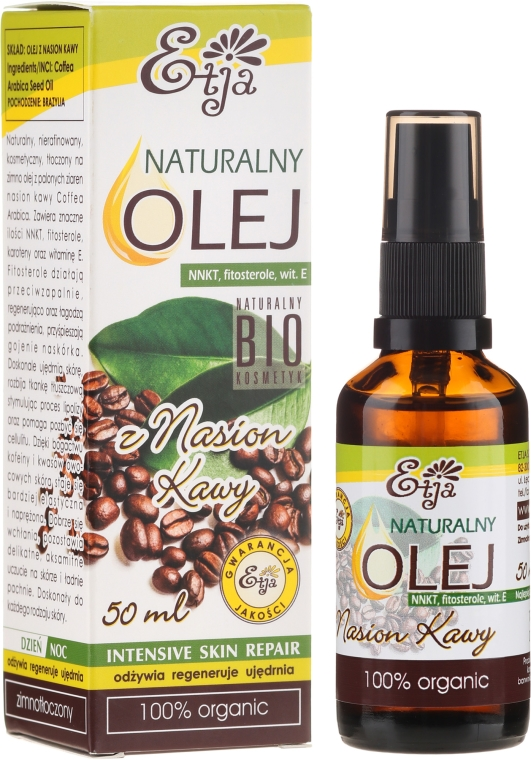 Olio di grani di caffè - Etja Natural Oil