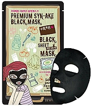Profumi e cosmetici Maschera-lifting in tessuto - Dewytree Premium Synake Black Sheet Mask