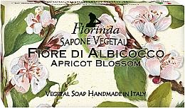 """Profumi e cosmetici Sapone naturale """"Fiori di albicocco"""" - Florinda Sapone Apricot Blossom Vegetal Soap Bar"""
