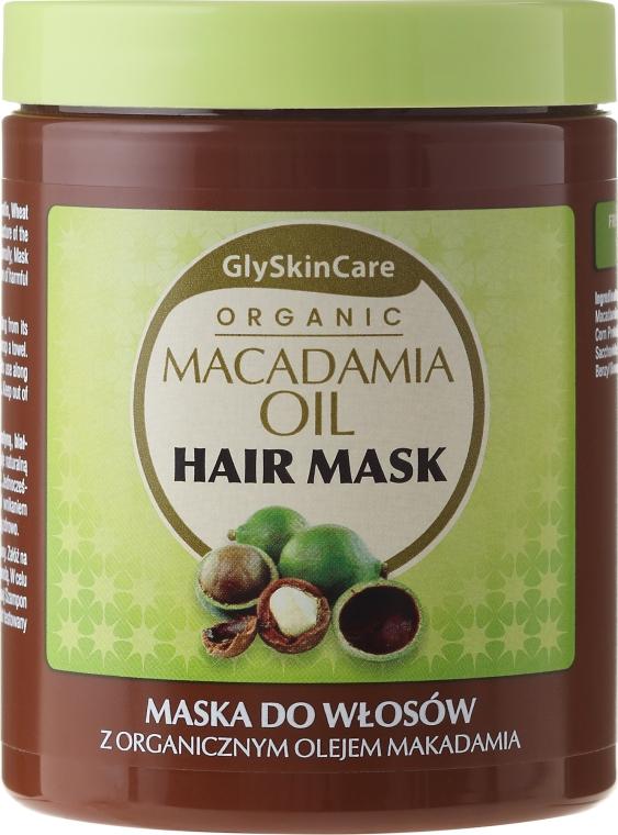 Maschera biologica con olio di macadamia per capelli - GlySkinCare Macadamia Oil Hair Mask