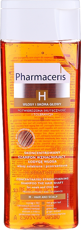 Shampoo rassodante per capelli deboli - Pharmaceris H H-Keratineum Concentrated Strengthening Shampoo For Weak Hair