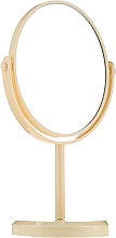 Profumi e cosmetici Specchio ovale su supporto, 85710, giallo - Top Choice Beauty Collection Mirror