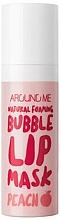Profumi e cosmetici Maschera labbra a bolle - Welcos Natural Foaming Bubble Lip Mask Peach