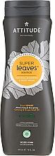 Profumi e cosmetici Shampoo 2in1 - Attitude 2-in-1 Sport Care Ginseng & Grape Seed Oil