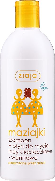 Gel doccia shampoo per bambini - Ziaja Kids Shampoo and Shower Gel Cookies and Vanilla Ice Cream
