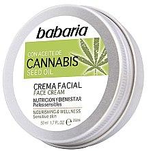 Profumi e cosmetici Crema viso - Babaria Cannabis Seed Oil Face Cream