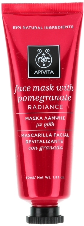 Maschera per la guarigione e la luminosità della pelle con il melograno - Apivita Revitalizing and Radiance Mask