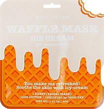 "Profumi e cosmetici Maschera ammorbidente ""Gelato cremoso"" - Kocostar Ice Cream Waffle Mask"