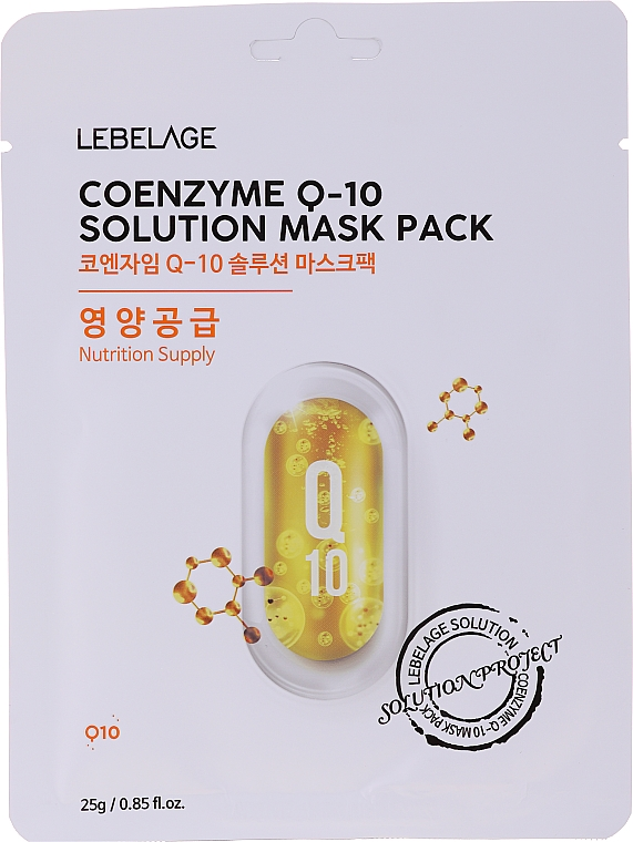 Maschera viso in tessuto - Lebelage Coenzyme Q-10 Solution Mask