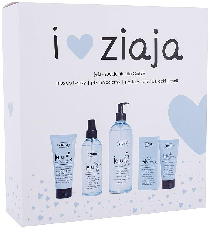 Set - Ziaja I Love Ziaja (f/paste/75ml + f/tonic/200ml + mincellar/water/390ml + f/muss/50ml)