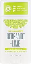 Profumi e cosmetici Deodorante - Schmidt?s Naturals Deodorant Bergamot Lime Stick
