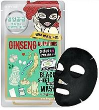 Profumi e cosmetici Maschera in tessuto nutriente al ginseng - Dewytree Ginseng Nutritious Black Sheet Mask