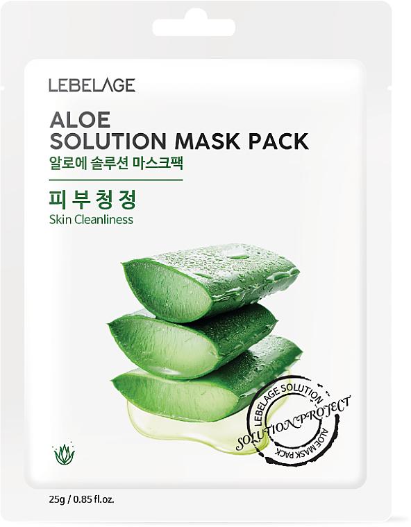 "Maschera viso in tessuto ""Aloe"" - Lebelage Aloe Solution Mask"