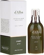Profumi e cosmetici Crema equilibrante peptidica - D'Alba Peptide No-Sebum Repair Cream