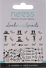 Profumi e cosmetici Adesivi per unghie, 3684, BD-007 - Neess