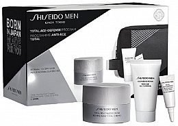 Profumi e cosmetici Set - Shiseido Men Total Age-Defense Program Set (cr/50ml + foam/30ml + eye/cr/3ml + bag)