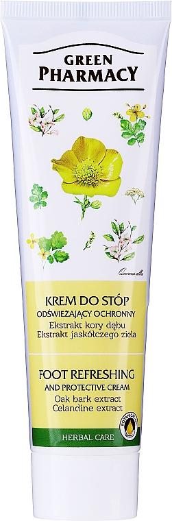 """Crema piedi rinfrescante """"Quercia e celidonia"""" - Green Pharmacy"""