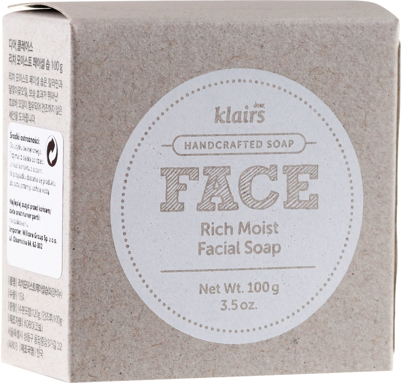 Sapone idratante - Klairs Rich Moist Facial Soap — foto N2