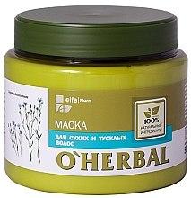Profumi e cosmetici Maschera per capelli secchi, con estratto di lino - O'Herbal