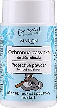 Profumi e cosmetici Polvere protettiva per piedi e scarpe con olio di eucalipto e mentolo - Marion Dr Koala Protective Powder