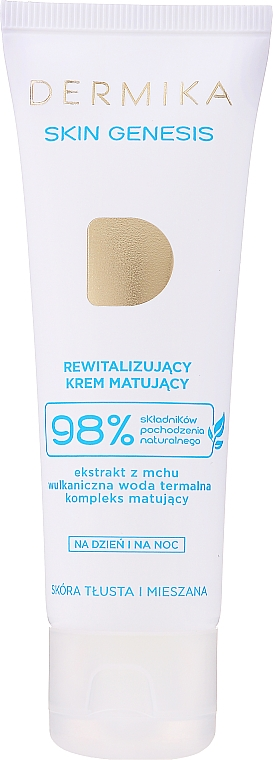 Crema viso rivitalizzante opacizzante per pelli grasse e miste - Dermika Skin Genesis