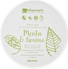 """Profumi e cosmetici Crema mani """"Menta e limone"""" - La Saponaria Hand Cream Mint and Lemon"""