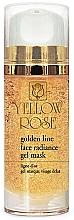 Profumi e cosmetici Maschera viso in gel con oro - Yellow Rose Golden Line Face Radiance Gel Mask