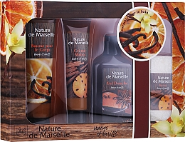 Profumi e cosmetici Set - Nature de Marseille Orange And Vanilla Cosmetics Set (sh/gel/150ml + h/cr/60ml + b/balm/100ml + soap/95g)