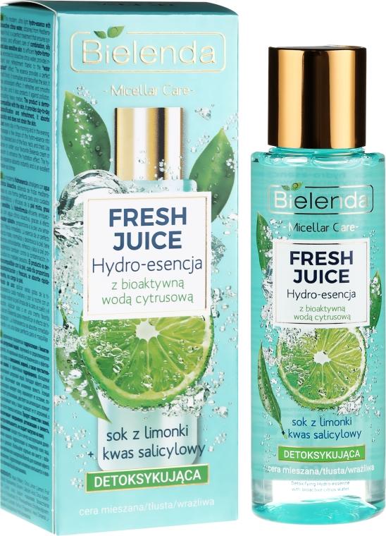 Idro-essenza disintossicante viso con acqua bioattiva di agrumi - Bielenda Fresh Juice Detoxifying Face Hydro Essence Lime