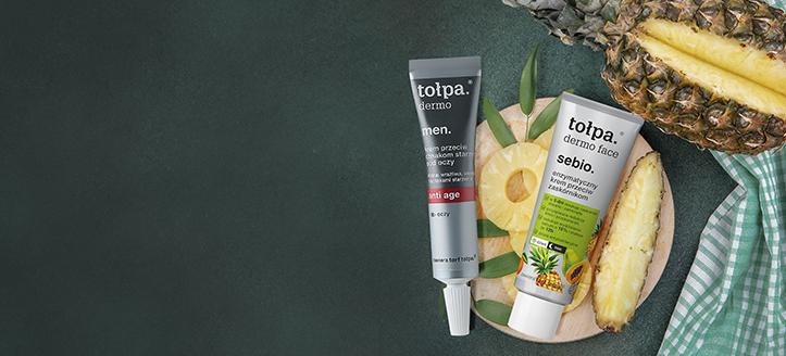 Sconto del 10% sull'assortimento promozionale di prodotti per la cura del viso di Tołpa. I prezzi sul nostro sito comprendono gli sconti