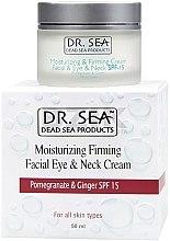 Profumi e cosmetici Crema viso e collo idratante e rassodante con estratti di melograno e zenzero SPF 15 - Dr. Sea Moisturizing Cream