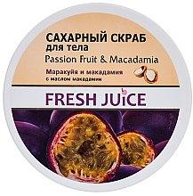 """Profumi e cosmetici Scrub allo zucchero """"Frutto della passione e macadamia"""" - Fresh Juice Passion Fruit & Macadamia"""