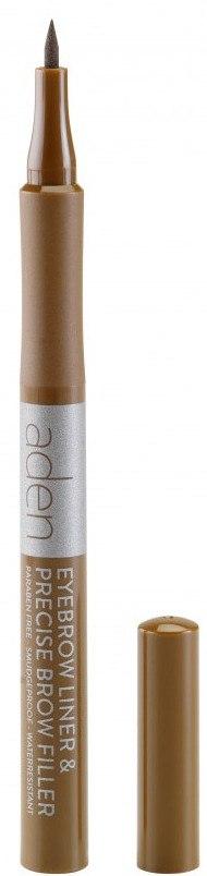 Marker per le sopracciglia - Aden Cosmetics Eyebrow Liner & Precise Brow Filler — foto 01 - Auburn