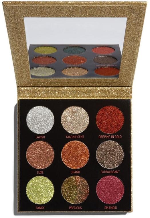 Palette ombretti glitterati - Makeup Revolution Pressed Glitter Palette Midas Touch