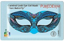 Profumi e cosmetici Maschera occhi in idrogel - Purederm Carnival Look Eye Gel Mask Pure Butterfly