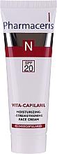 Profumi e cosmetici Crema viso idratante con effetto rassodante - Pharmaceris N Vita Capilaril Moisturizing-Strengthening Face Cream SPF20