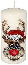 "Profumi e cosmetici Candela decorativa ""Rudolph"", bianca - Artman Christmas Candle Rudolf White"