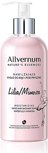 """Sapone per le mani e doccia """"Lily e Mimosa"""" - Allverne Nature's Essences Hand And Shower Soap"""