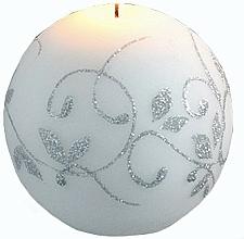 Profumi e cosmetici Candela decorativa, palla, bianca, 8 cm - Artman Amelia