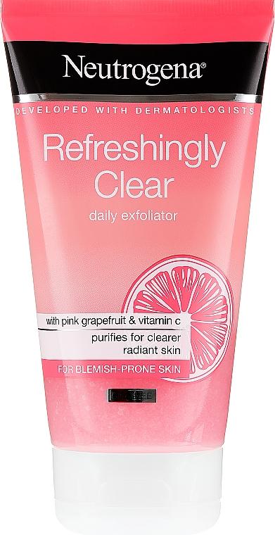 Scrub viso al pompelmo rosa e vitamina C. - Neutrogena Refreshingly Clear Daily Exfoliator