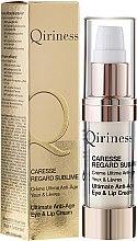 Profumi e cosmetici Crema antirughe per contorno occhi e labbra - Qiriness Caresse Regard Sublime Ultimate Anti-Age