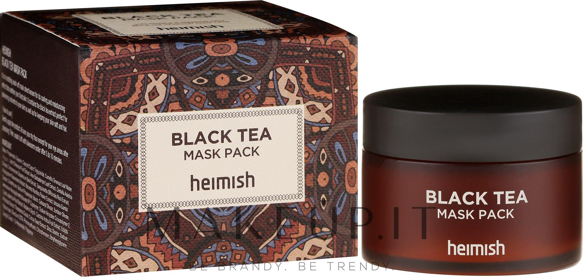 Maschera lenitiva per il viso - Heimish Black Tea Mask Pack — foto 110 ml