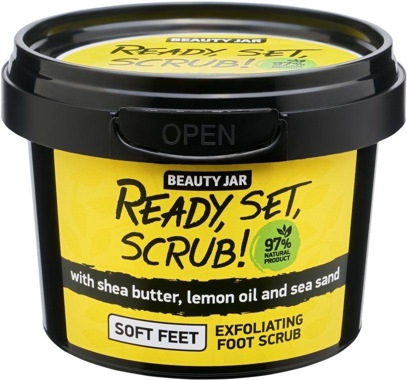 Scrub piedi - Beauty Jar Ready, Set, Scrub! Exfoliating Foot Scrub