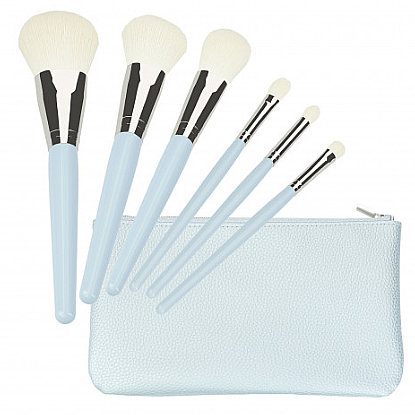 Set pennelli trucco, blu 6 pz - Tools For Beauty Set Of 6 Make-Up Brushes