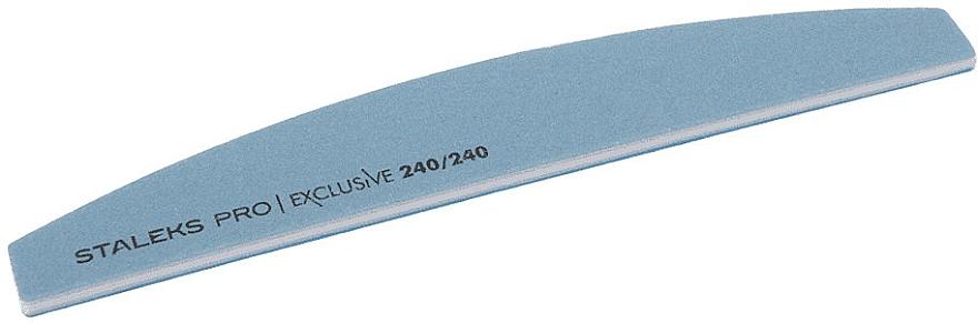 Lima per unghie a mezzaluna, grana 240/240 - Staleks Pro Exclusive