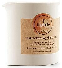 """Profumi e cosmetici Candela da massaggio """"Smoothing caramel"""" - Flagolie Caramel Smoothing Massage Candle"""