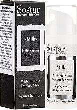Profumi e cosmetici Siero per capelli da uomo - Sostar Donkey Milk Men Anti-Hair Loss Serum