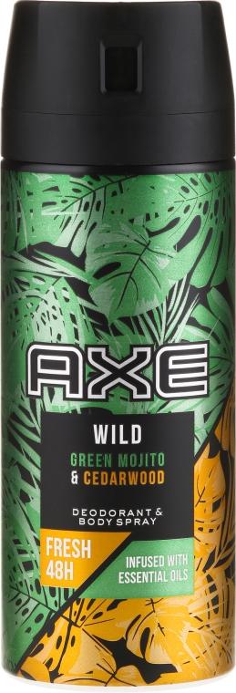 Antitraspirante-aerosol - Axe Wild Green Mojito & Cedarwood