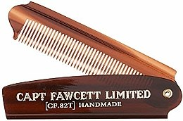 Profumi e cosmetici Pettine per barba pieghevole, CF82T - Captain Fawcett Folding Pocket Beard Comb