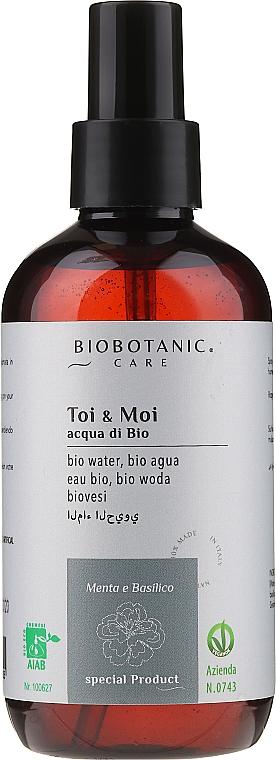 Profumo biologico (acqua di bio) alla menta e basilico - BioBotanic Toi & Moi Bio Water — foto N1